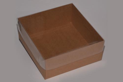 קופסת שי עמוקה עם מכסה שקוף