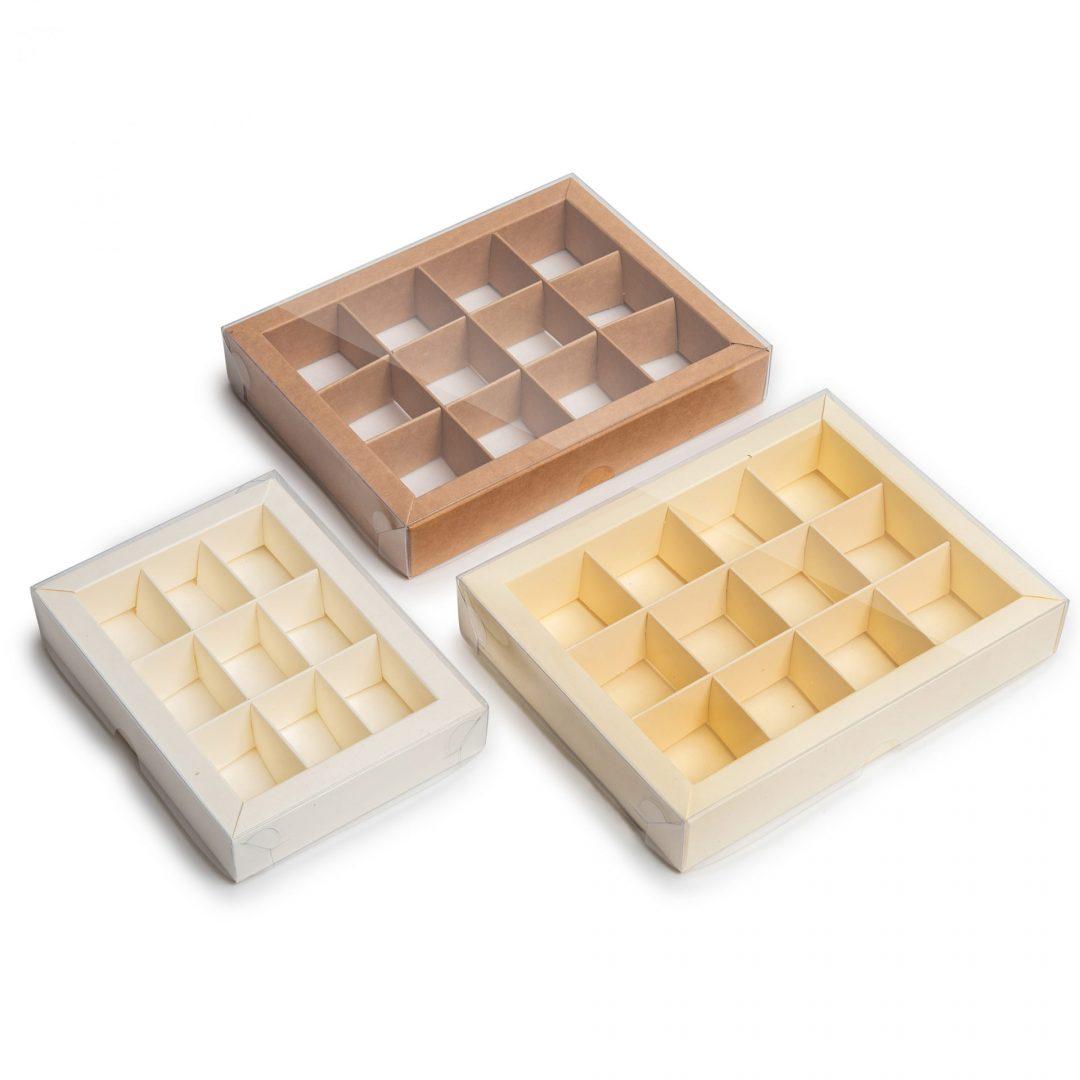 קופסאות קרם ל-12 / ל-9 פרלינים