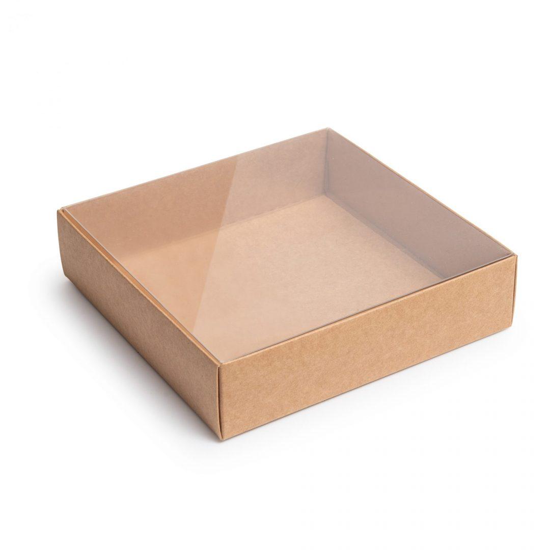 קופסא עם מכסה פנימי שקוף