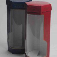 מארז לבקבוק וודקה-לחברת א.ג.ת.ד כולל חלון שקוף