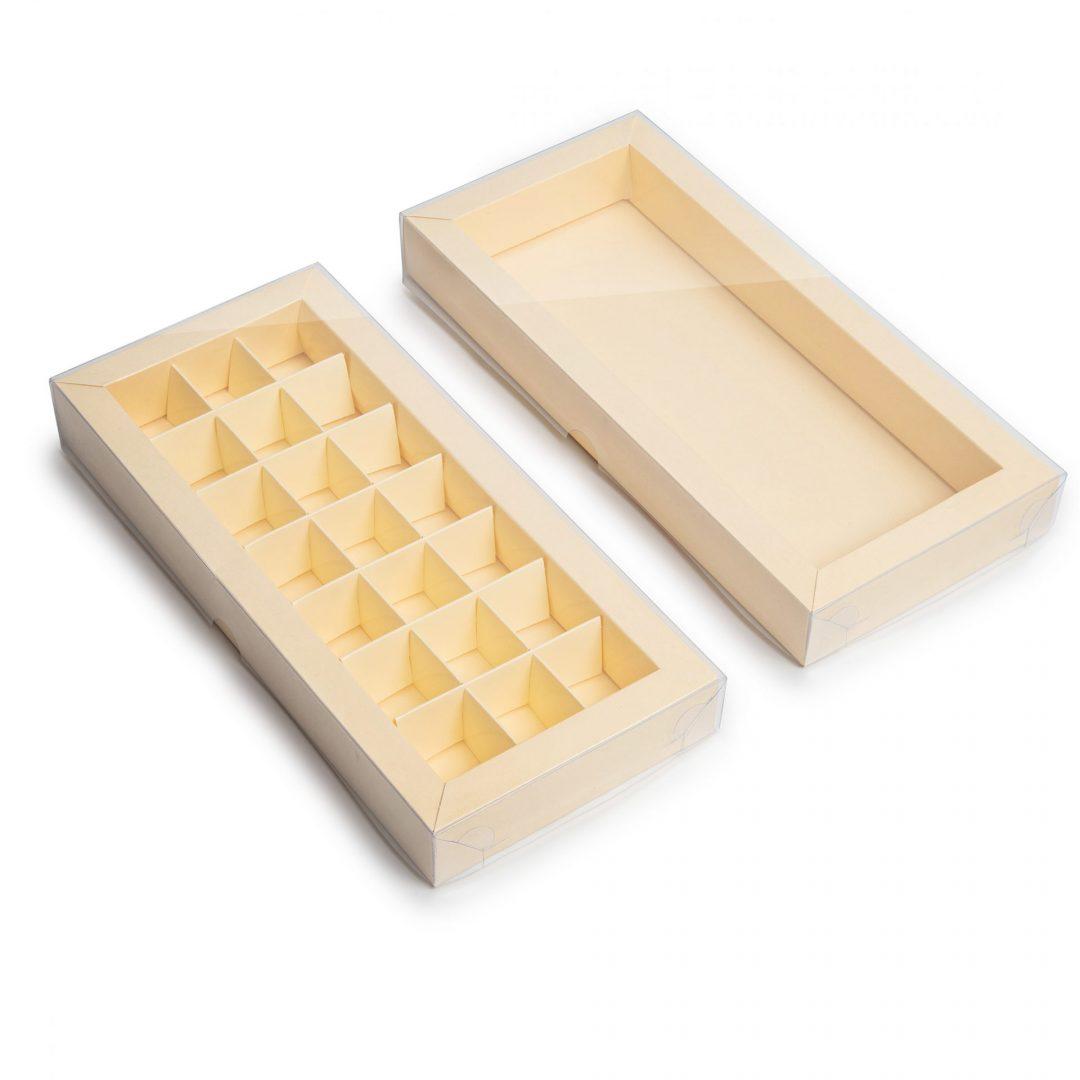 קופסא קרם עם מכסה שקוף