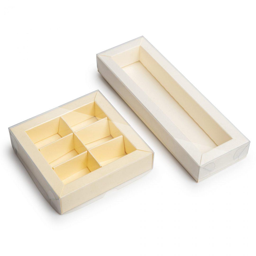 קופסאות קרם עם מכסה שקוף